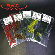 200strands 5colors/set grizzly barred rubber legs crazy silicone round flutter legs fly tying material for fishing namphal flies