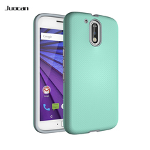 Juocan TPU With Hard PC Material Cell Phone Back Cover For Moto G4 Ball Grain Design Finger Print-Proof Phone Case For Moto G4 P