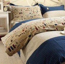 Warm eiffel tower sanded 100% cotton bedding sets,twin full queen king european modern bedclothes sheets pillow case quilt cover