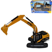 1:50 Alloy Plastic Excavator with Light Music Model toy Rubber Track Excavator Kids toy boy Christmas gift wholesale(China)