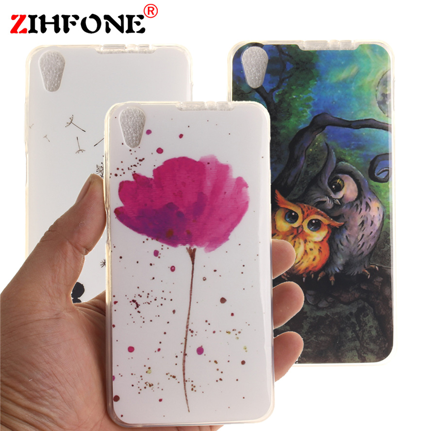 "fundas Lenovo S850 Soft TPU Silicone Case cat flower Cover Lenovo S850 Lenovo S 850 S850T 5.0""Plastic Flower Phone Cases"