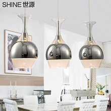 Fashion brief modern pendant light restaurant lamp dinning room glass pendant lamp three head pendant lights