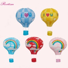 1pcs 12inch Colorful Rainbow Paper Lantern Hot Air Balloon Sky Lanterns for Home/Wedding/Birthday/ Party Decoration Supplies