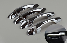 For HYUNDAI SANTA FE / IX45 2013 2014 2015 New Chrome Car Door Handle Cover Trim Sticker Free Shipping