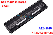10.8V 5200mAh Korea Cell Original Genuine Laptop Battery A32-1025 for ASUS Eee PC 1225 1215 1025 1025C 1025CE A31-1025 A32-1025