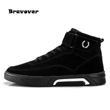 Men Casual Shoes Fashion High top Men's Casual Shoes Breathable Man Lace-up Brand Shoes(China)