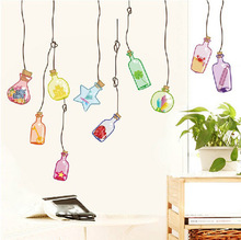 Hot style wall stickers wholesale children room bedroom kindergarten background decoration ideas Marine drift bottle