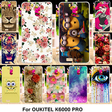 TAOYUNXI Silicone Phone Cover Case For Oukitel K6000 Pro 5.5 inch Cover Fundas Soft TPU Case Flowers Rose Cat Housing Shell Bag