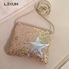 Buy LIXUN Brand Vintage Kids Sequins Stars Crossbody Messenger Handbags Causal Children Shoulder Bags Flap Purses Feminina Bolsos for $4.31 in AliExpress store