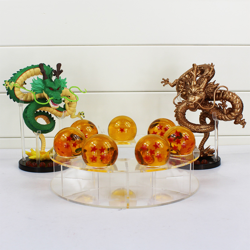 15CM 1pcs Dragon Ball Z ShenRon Shenlong PVC and 3.5CM 7pcs Dragon Ball and 1pcs Acrylic Shelf Hot Japan Anime model Toy<br>