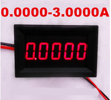 Red LCD Gauge digital ammeter Amperemeter  DC 0.0000-3.0000A Current meter Panel Amp tester for car