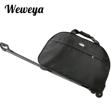 Weweya New Waterproof Rolling Luggage Bag Thick Style Rolling Suitcase Trolley Luggage Women&Men Travel Bags Suitcase With Wheel(China)