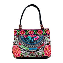 Chinese Style Women Handbag Embroidery Ethnic Summer Fashion Handmade Flowers Ladies Tote Shoulder Bags Cross-body Bags