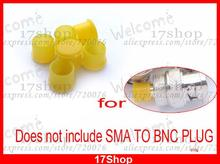50 PCS Yellow Plastic covers Dust cap Hat for RF SMA female connector