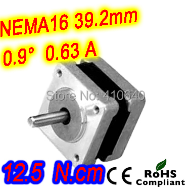 FREE SHIPPING step motor 16HM12-0634S  L31 mm  NEMA 16 with 0.9 deg  0.63 A  12.5 N.cm and  bipolar 4 lead wires 12 pcs per lot<br>