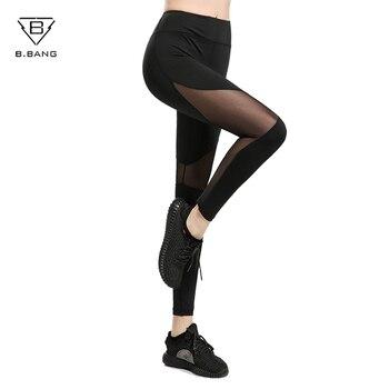 B. BANG Dames Pantalon Femmes de Sport Fitness Course Collants Fonctionnelle Gym Workout Pantalon séchage rapide Leggings Net fil pantalon