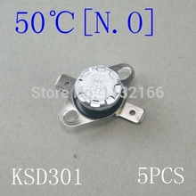 Temperature Switch KSD301 Button Contact NO 50 Celsius Thermostat Sensor 5PCS