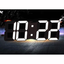 Dimmable Led Digital Wall Clock with Light Sensor Large 6 inches 15cm high LED Digits High Visible LED Clock for Home Decoration(China)