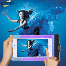 KISSCASE Clear Underwater Waterproof Pouch Case for iPhone 7 6 6S Plus xiaomi redmi 4x Note 4 Color Android Phone Case Cover Bag