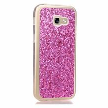BEFOSPEY Charming Sequins Soft Phone Case For Samsung Galaxy A3 2017 A320 Flashing Luxury Elegant Cover Cases Holster