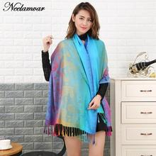 Neelamvar 2017 new winter scarves Popular Style Large Size tassel cotton Scarf woman Shawl Cashew scarves Cover stoles pashmina(China)