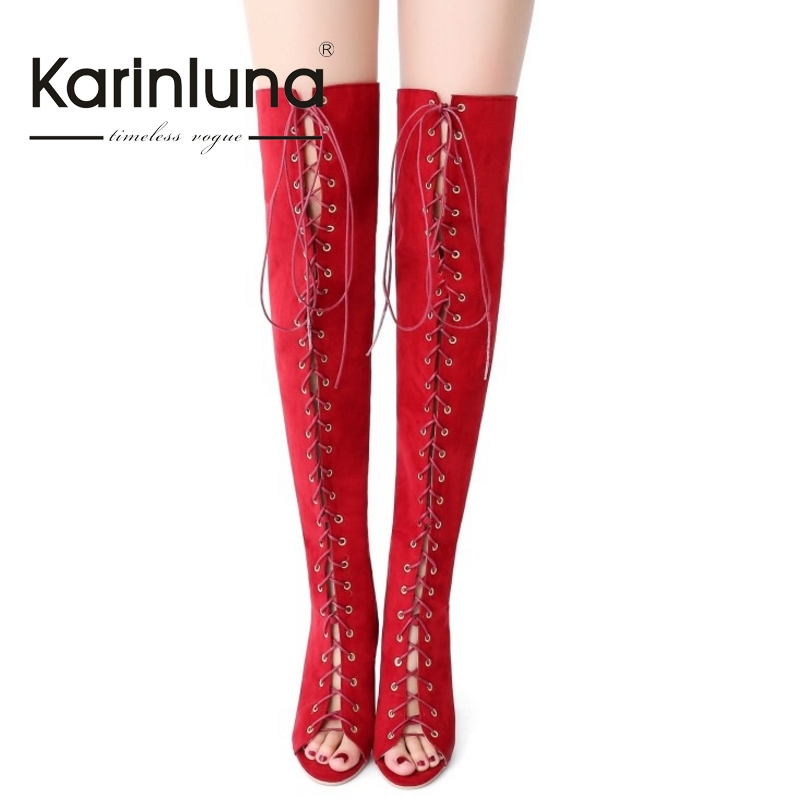 brand design sexy big size 32-43 cross lace up woman shoes women summer boots thin high heels for party night club<br>