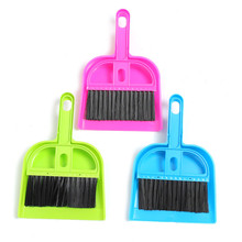 Mini Dustpan And Brush Set Desk Hand Sweeper Keyboard Closet Brooms Brushes Durable Office Desktop Cleaning Tools Soft Plastic(China)