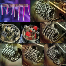 Prebuilt Coils Flat twisted wire Fused clapton coils Hive premade wrap wires Alien Quad Tiger for Electronic Cigarette RDA RTA(China)