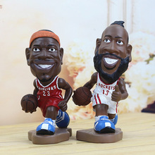 "8.7"" 22CM Basketball Super Star JAMES Harden Resin Action Figure Model Collection Toy Doll brinquedos"