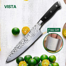 Chef Knife Kitchen Knives 8 Inch Stainless Steel 7Cr17 Meat Cutter Sushi Knife Pakka Wood Handle Razor Sharp blade Top Grade(China)
