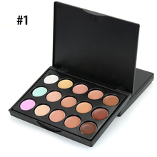 popfeel MIni 15 Colors Face Concealer Camouflage Cream Contour Palette corretivo maquiagem concealer palette high definition(China)