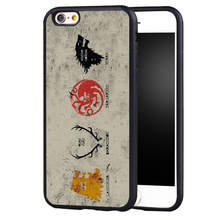 Game Of Throne House Stark Lannister case cover for Samsung Galaxy s6 S7 edge S8 plus s4 s5 note 2 3 4 5