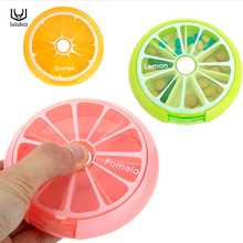 luluhut mini care 7 slot pill medicine vitamin storage box organizer cover portable pill case Weekly rotating drug small box(China)