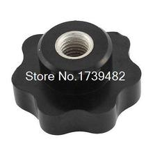 M12 Female Thread 50mm Head Diameter Star Torx Clamping Knob Black