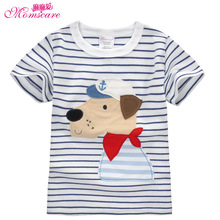 Mom's care Cartoon Dog Childrens T shirts 100% Cotton Short Sleeves Infant Baby Boys Girls Shirts Tops Tees Sweatshirt Spring(China)