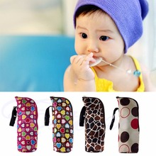 2017 Portable Baby Thermal Feeding Bottle Warmer Mummy Tote Bag Hang Stroller New  APR14_30