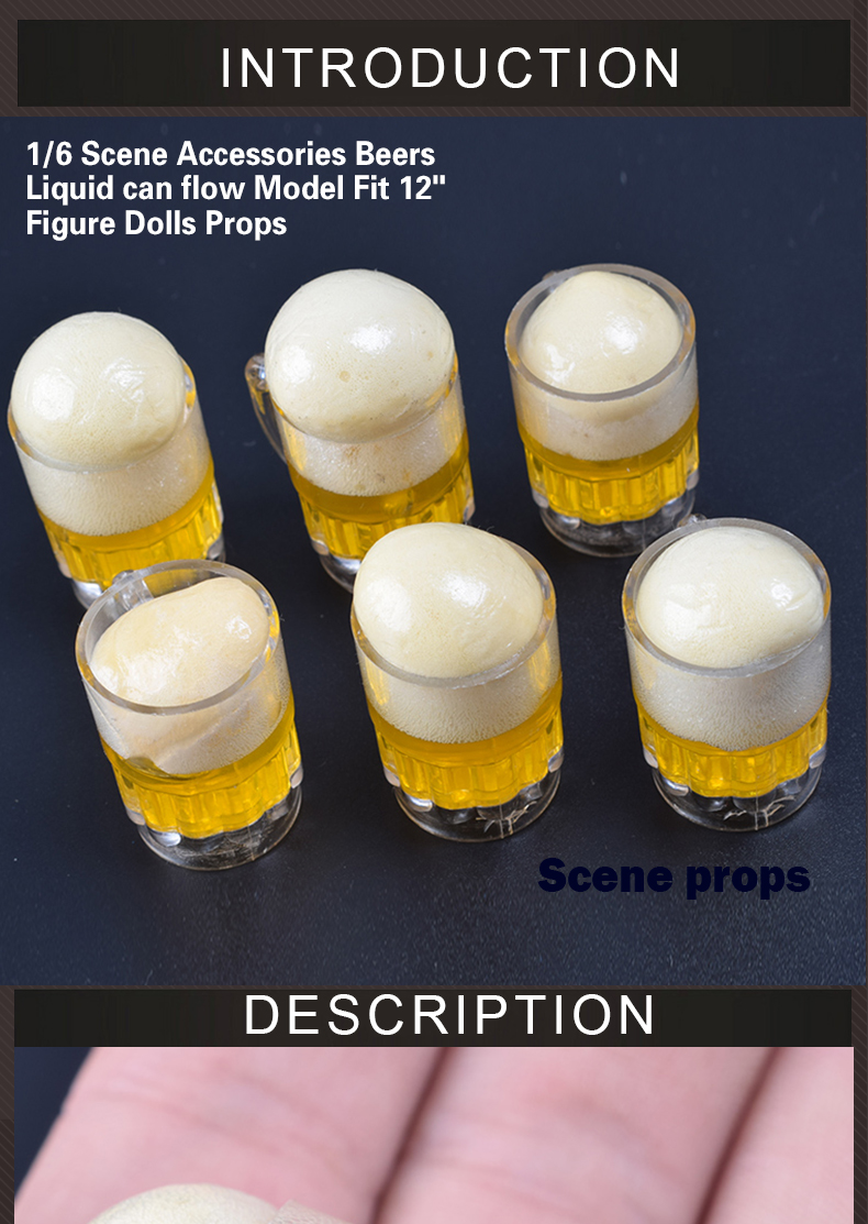 "1//6 Scale Draft Beer Cup Bottle Scene Accessories For 12/"" Action Figure Hot Toys"