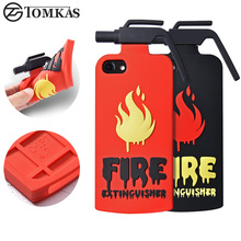 TOMKAS Case For iphone 6 6S Case 3D Fire Extinguisher For iphone 6 6S Plus Mobile Phone Case Cute Cartoon soft silicone Cover(China)