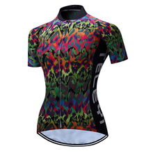 TELEYI Bike Jersey shirts Short Sleeve Summer Women Riding Pro Team Ropa Ciclismo Bicycle Team Clothing Tops Sportwear