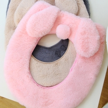1PC New Soft Warm Long Plush Toilet Seat Cover Mat Pad Lid Comfortable Washable Warmer Health Toilet Closestool Seat Cover(China)