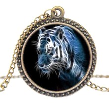 2017 New Fashion Necklaces Tiger Pendant Sweater Necklace Vintage Punk Jewelry