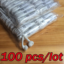 Wholesale 100 pcs Earphone Sport Earbuds with Mic 3.5 Earphones ODD SHIELD for MP3 MP4(China)