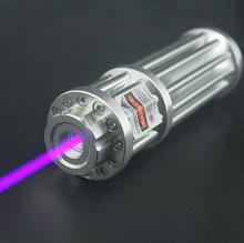 B017 405nm High Power 10000m Purple Blue Violet Laser Pointer Adjust Focus burning Match Cigares (5 star caps) +Free Shipping(China)