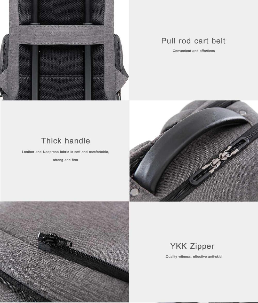Xiaomi Fashion Commuting Waterproof backpack Removable Front Bag Big Capacity men backpacks travel backpack Laptop Bag male H0 (40)