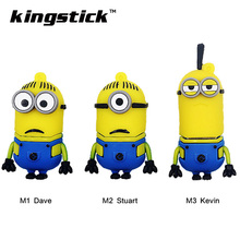 2017 Popular Super minions Funny cute cartoon pendrive 4GB 8GB 16GB 32GB 64GB usb flash drive memory stick pen drive U disk