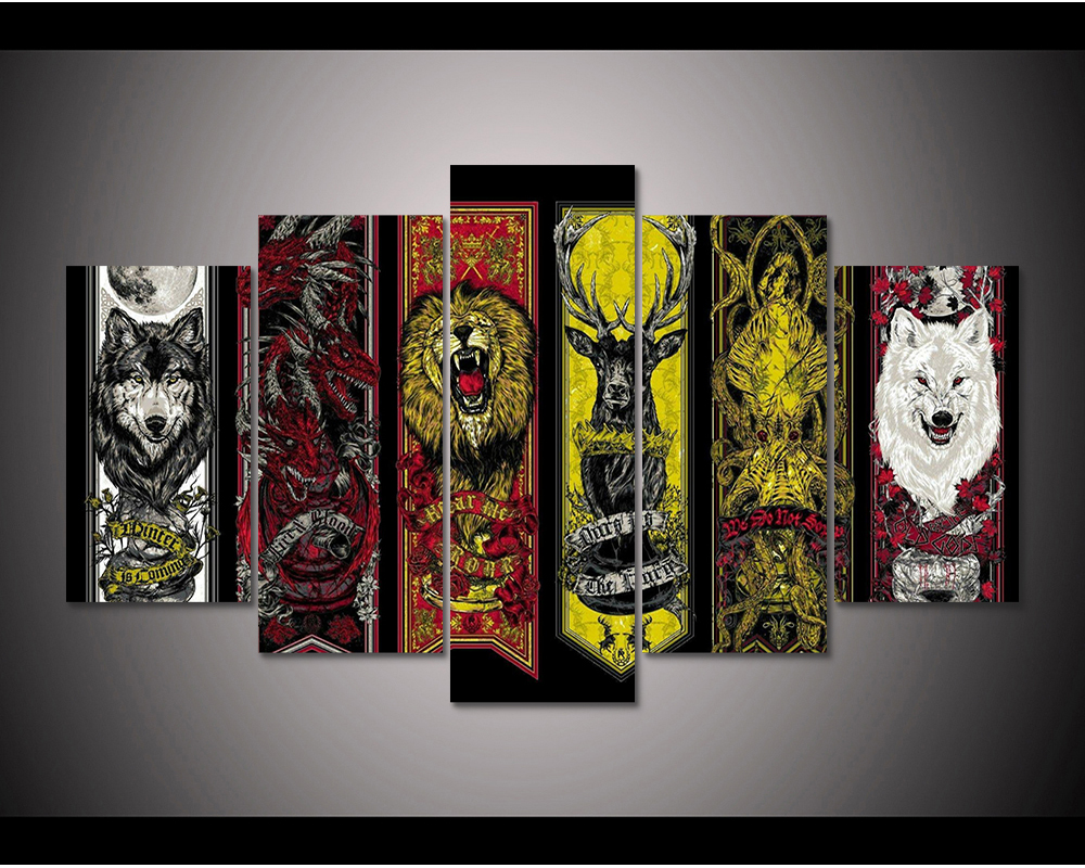 Game Of Thrones house flags