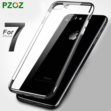 PZOZ For iPhone7 Case Silicone Cover Original For iphone 7 Plus Luxury Glitter Silm Protection Phone Hard Shell 4.7 & 5.5