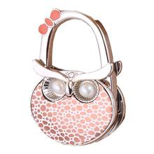 Owl Shape Women Lady Folding Handbag Hanger Hook Bag Purse Holder Gift
