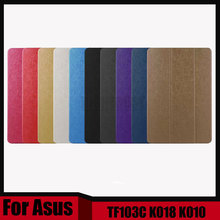3 in 1 New thin Pu leather stand cover case For Asus Transformer Pad TF103C TF103CG TF0310C K018 K010 + Stylus + Screen Film