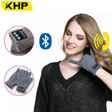 KHP New High Tech Smart Gloves Headset Bluetooth Earphone Headphone Outdoor Wireless Bluetooth Headphone Calling Answer Phone(China)
